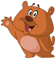 happy bear waving vector image vector image
