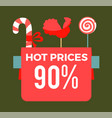 hot prices 90 final sale poster with sweet candy vector image vector image