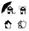 house concept black and white vector image