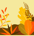 in flat linear style - autumn background vector image vector image