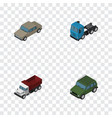 isometric transport set of freight truck auto vector image vector image