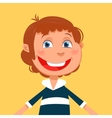 Kid boy cartoon vector image