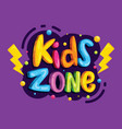 kids zone banner template vector image vector image