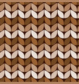 knitted fabric with brown and beige threads vector image vector image