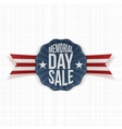 Memorial Day Sale patriotic Emblem with Ribbon vector image vector image