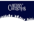 Merry Christmas Landscape Forest Background vector image vector image