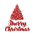 Merry Christmas Xmas tree vector image vector image