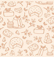 Monochrome seamless pattern with cheese of