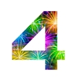 Number of colorful firework four vector image vector image