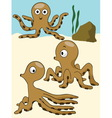 octopus under the sea vector image vector image