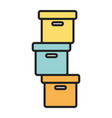 pile cardboard boxes storage carton design vector image
