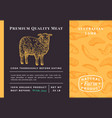 premium quality meat abstract lamb vector image vector image