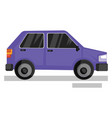 purple car on white background vector image vector image