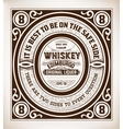 Retro whiskey label vector image vector image