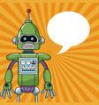 robot machine engineering bubble speech vector image vector image