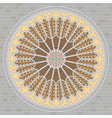 rose window vector image vector image