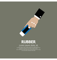 Rubber In Hand vector image vector image