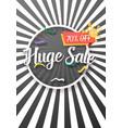 sale poster paper lettering bright sale flyer vector image vector image