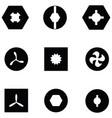 screw icon set vector image vector image