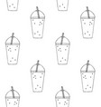 seamless pattern smoothie drink vector image vector image