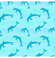 seamless pattern with dolphins on waves background vector image vector image