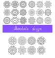 set of 26 mandala design circle ornament vector image