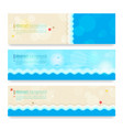 set of modern abstract background in summer beach vector image vector image
