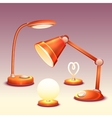 set of realistic office reading-lamps vector image vector image