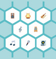 set of studio icons flat style symbols with harp vector image