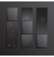 Set Vertical Black Banners New Year Christmas vector image vector image