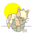 sitting cat icon cat simple app cat sitting vector image vector image