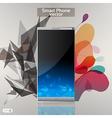 Smart phone background vector image