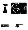 soccer icon set vector image vector image
