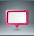 speech bubl icon dialog box info vector image vector image