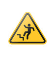 staircase warning sign vector image vector image