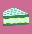 sweet dessert in flat design cake vector image