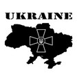 symbol of ukraine and maps vector image