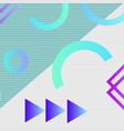 trendy geometric elements memphis pattern vector image vector image