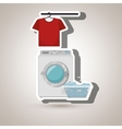 washing machine clothes detergent vector image vector image