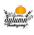 welcome autumn seasonal card vector image vector image