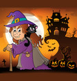 witch with cat topic image 4 vector image vector image