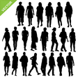 Women silhouette vector image vector image