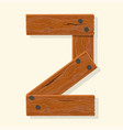 wood number wooden plank numeric font held with vector image vector image