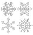Zentangle winter snowflakes set for Christmas New vector image vector image