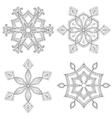 Zentangle winter snowflakes set for Christmas New vector image