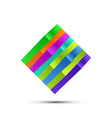 Abstract Colorful Square Logo vector image