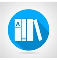 Flat round icon for books vector image