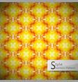 flower golden orange rope geometric seamless vector image