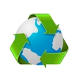 Recycling Earth concept Realistic of vector image