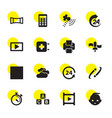 16 glossy icons vector image vector image
